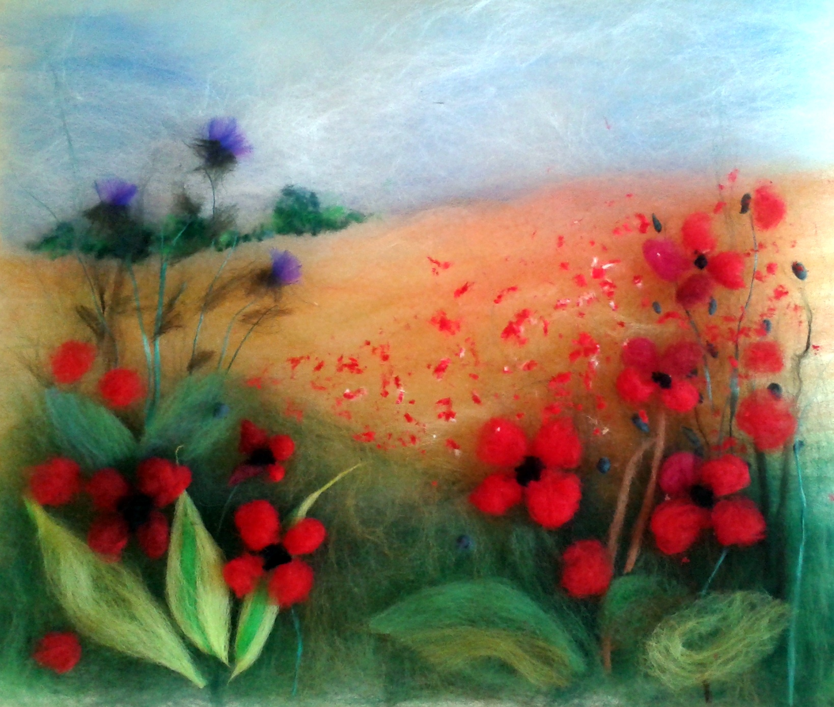 Sue's wool painting