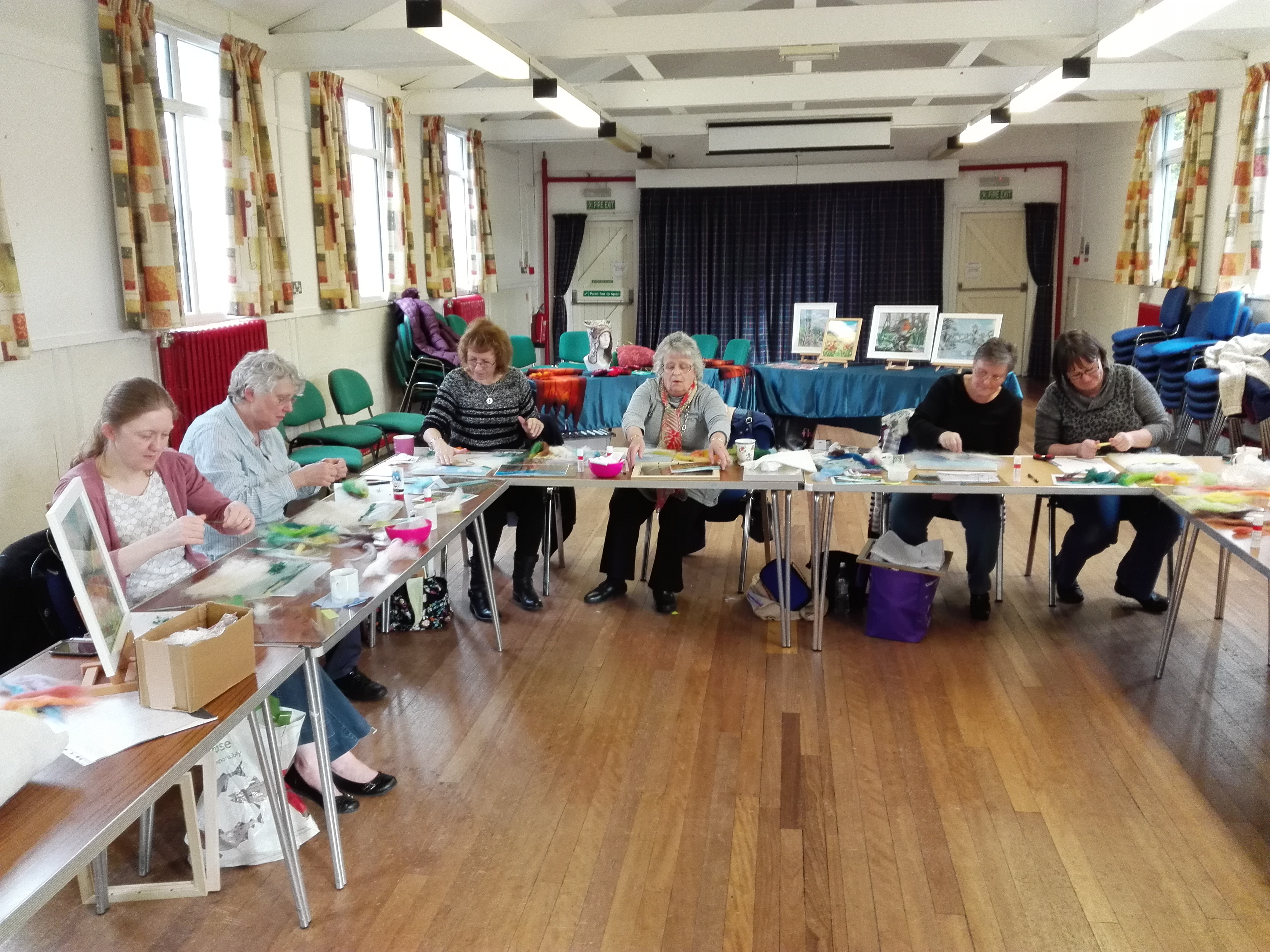 Wombourne Quilters at work