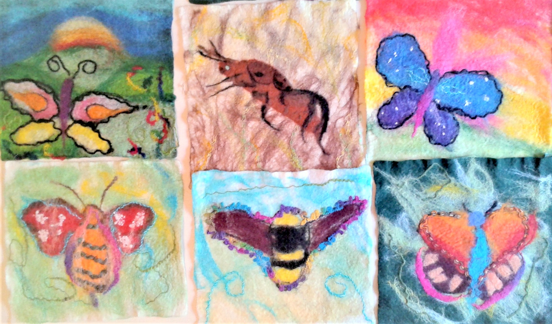 Felt making project at Heathfield and Knoll school with  Textiles Tutor Raya Brown