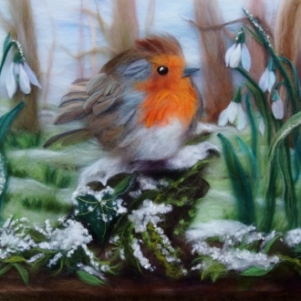 Make a special Christmas gift at a wool painting course in Kidderminster Worcestershire