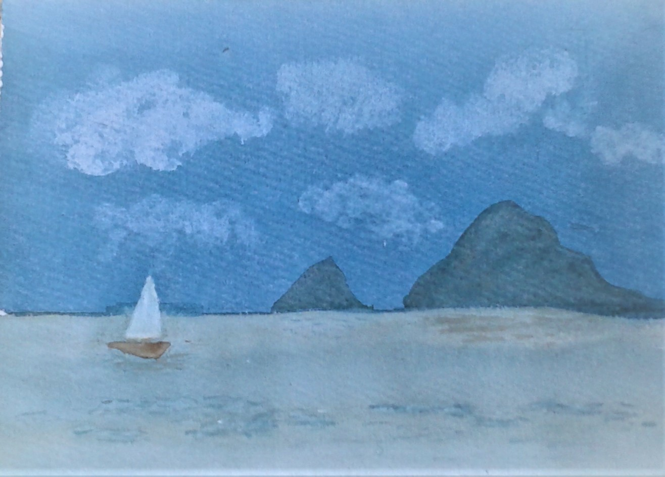 First watercolour by Ann from Magic Wool Art and Craft Studio