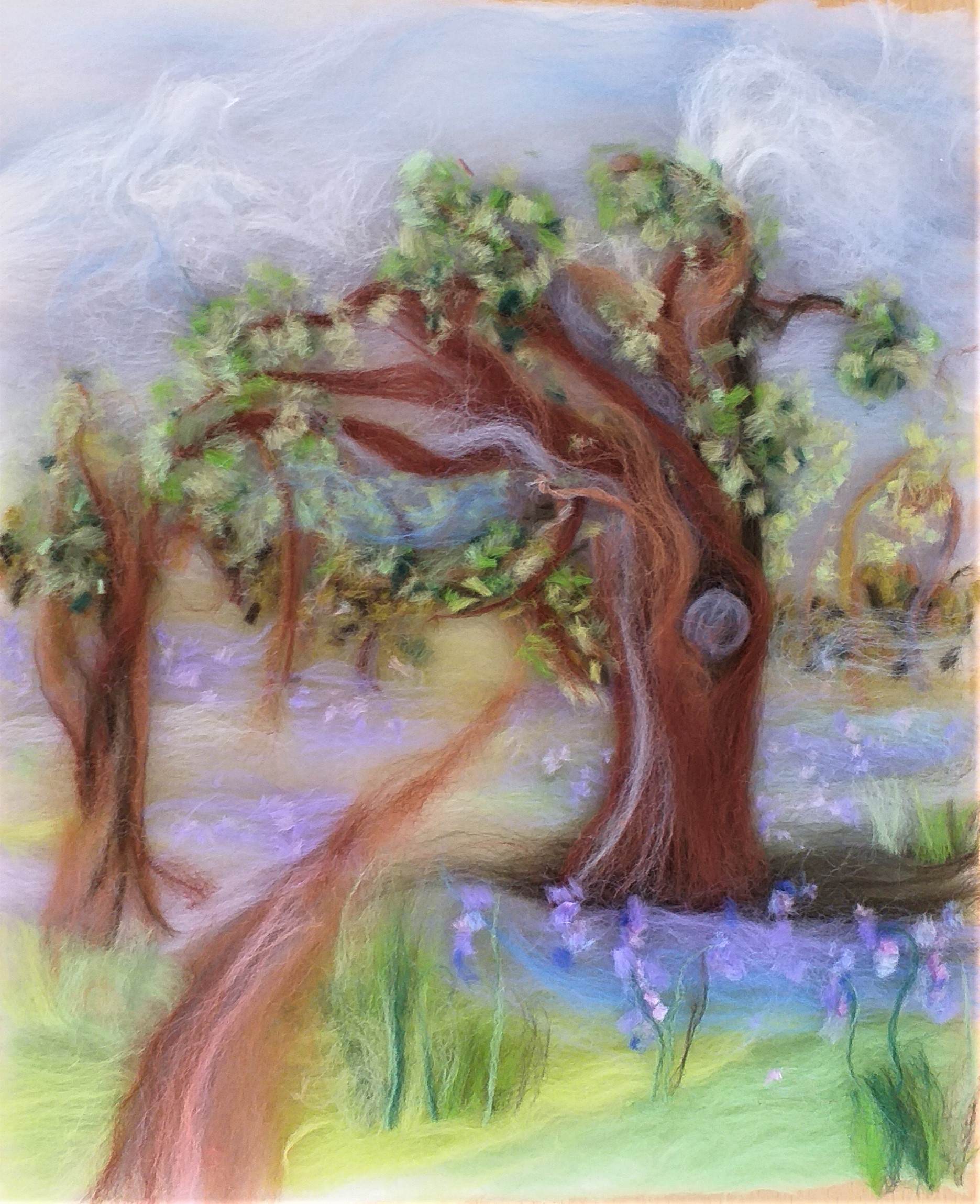 The new wool painting course 'Bluebell woods' at Bevere Gallery in Worcester was a success