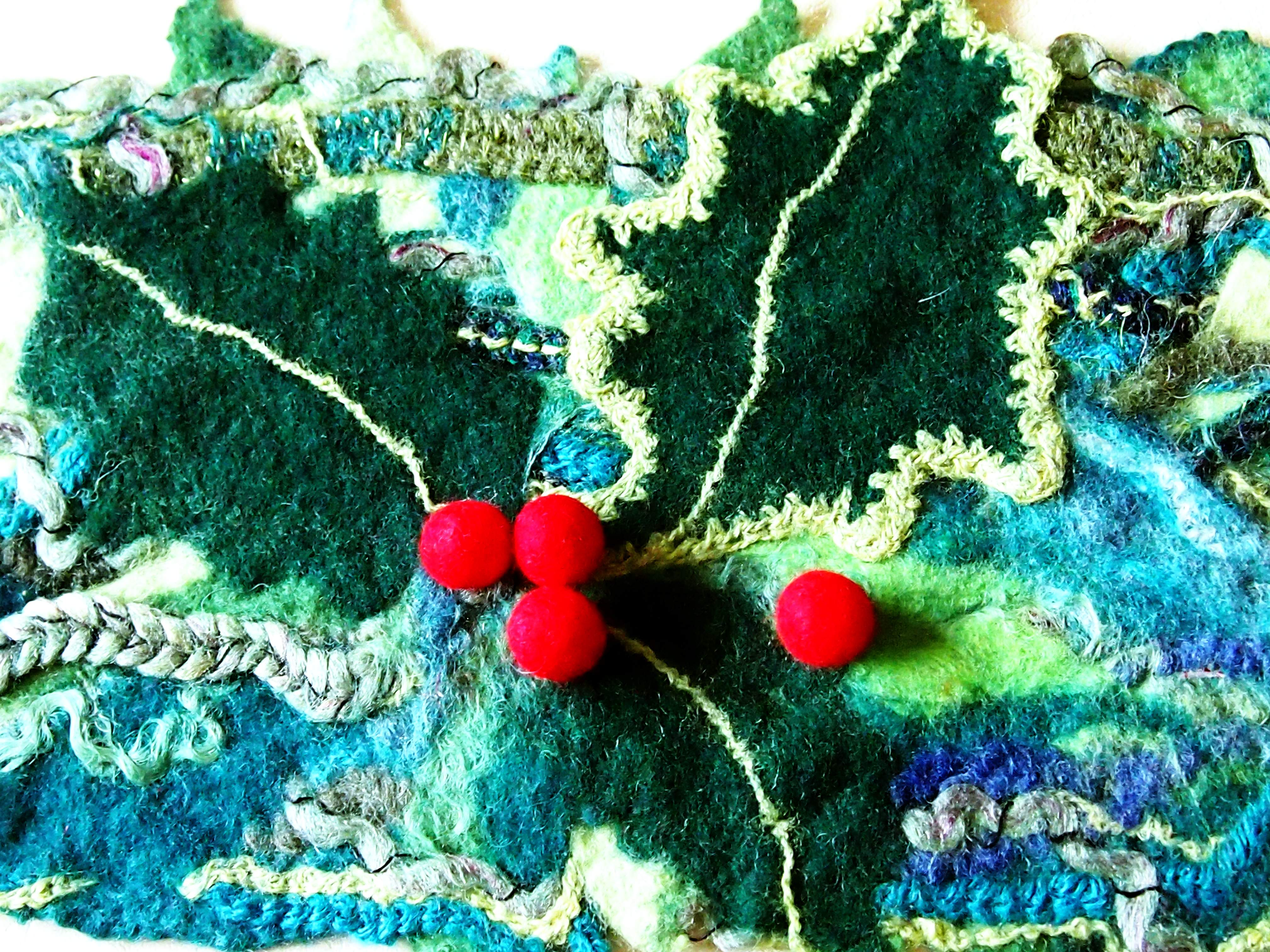 Felted Christmas table decoration (enlarged detail)