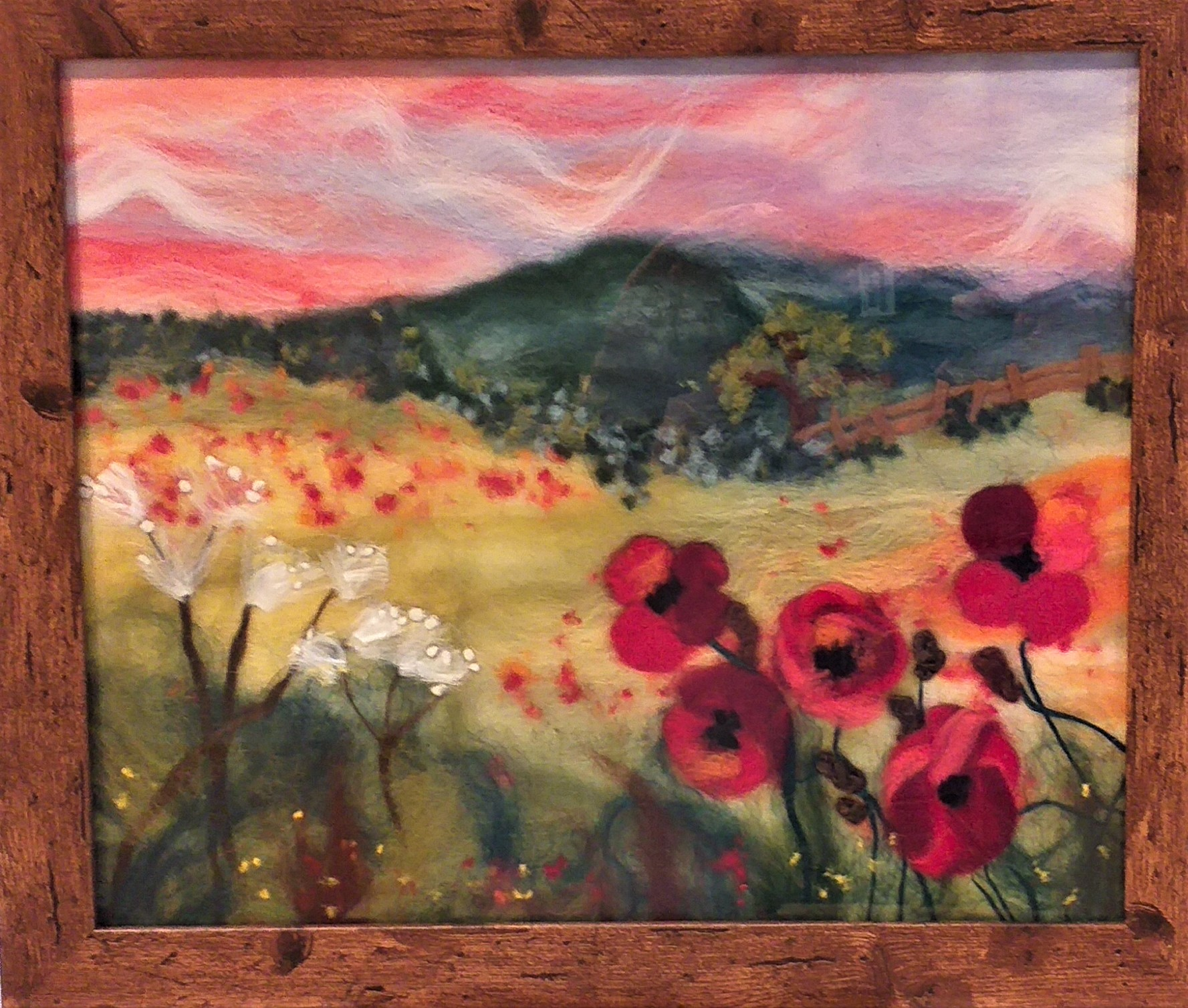 Wool fibre painting with experienced artists at Bevere Gallery in Worcester