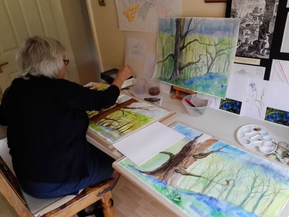 Learn watercolour painting at Kidderminster art classes