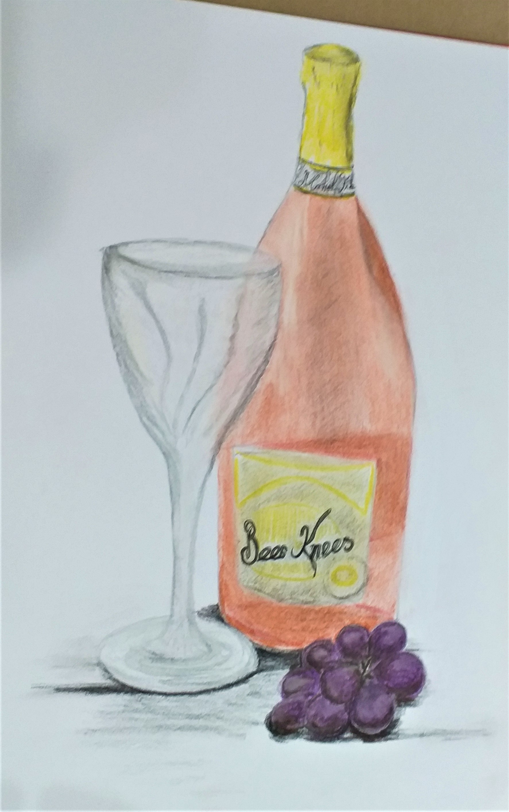 Still life drawing produced by a student from art course in Kiddermister