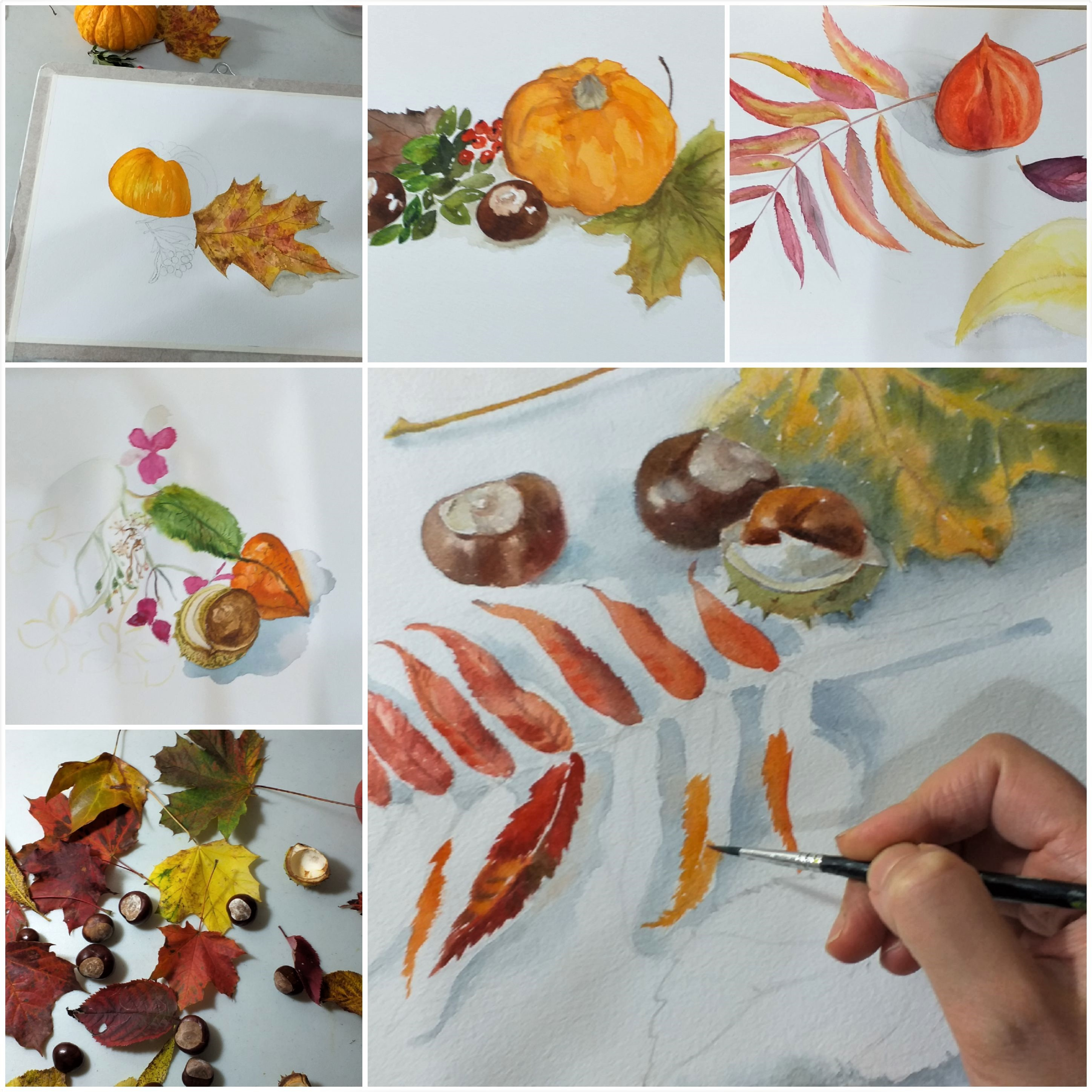 Learn watercolour painting with Raya Brown in Worcestershire