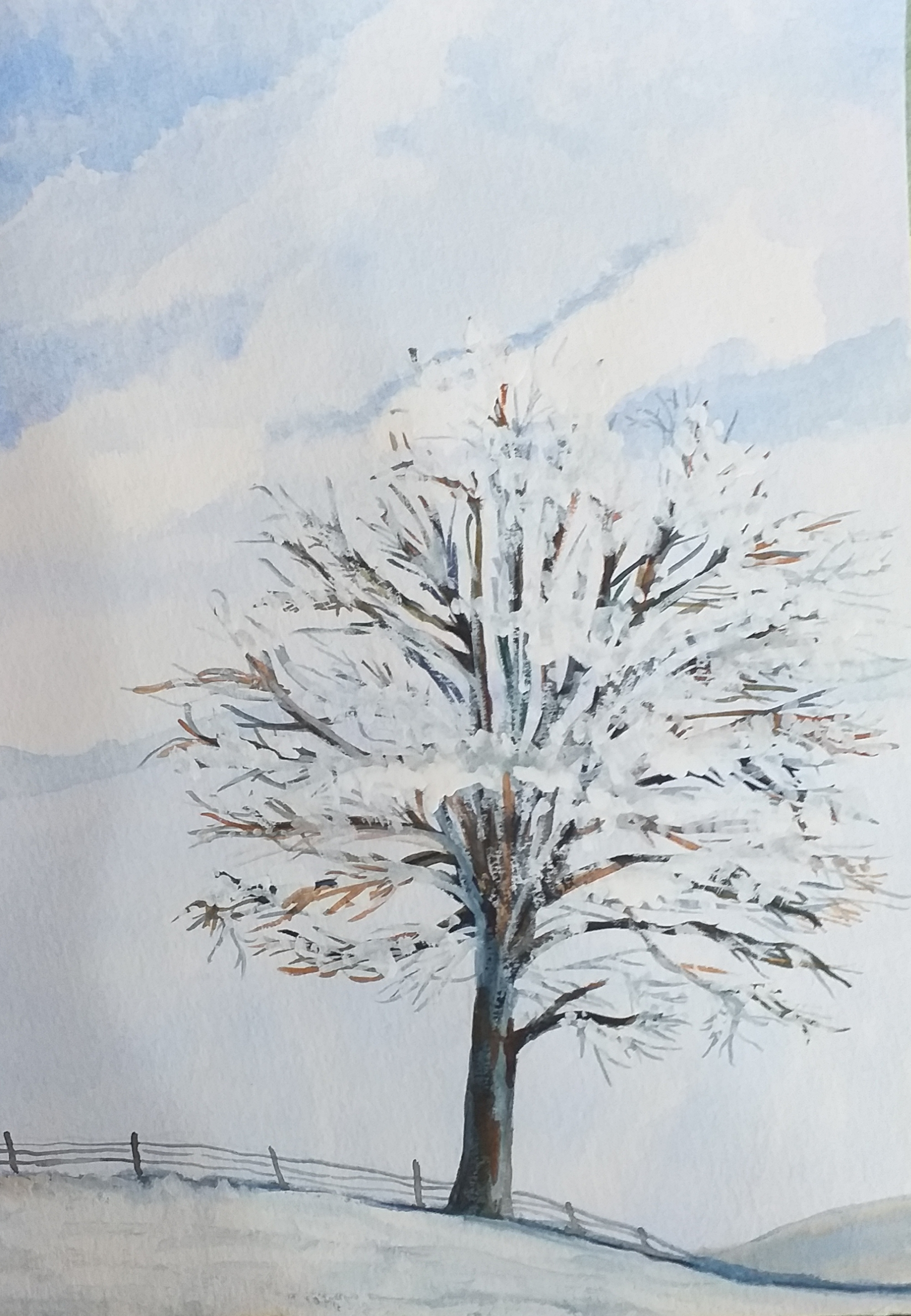 Fantastic landscapes in Watercolour created at Art Classes in Kidderminster West Midlands
