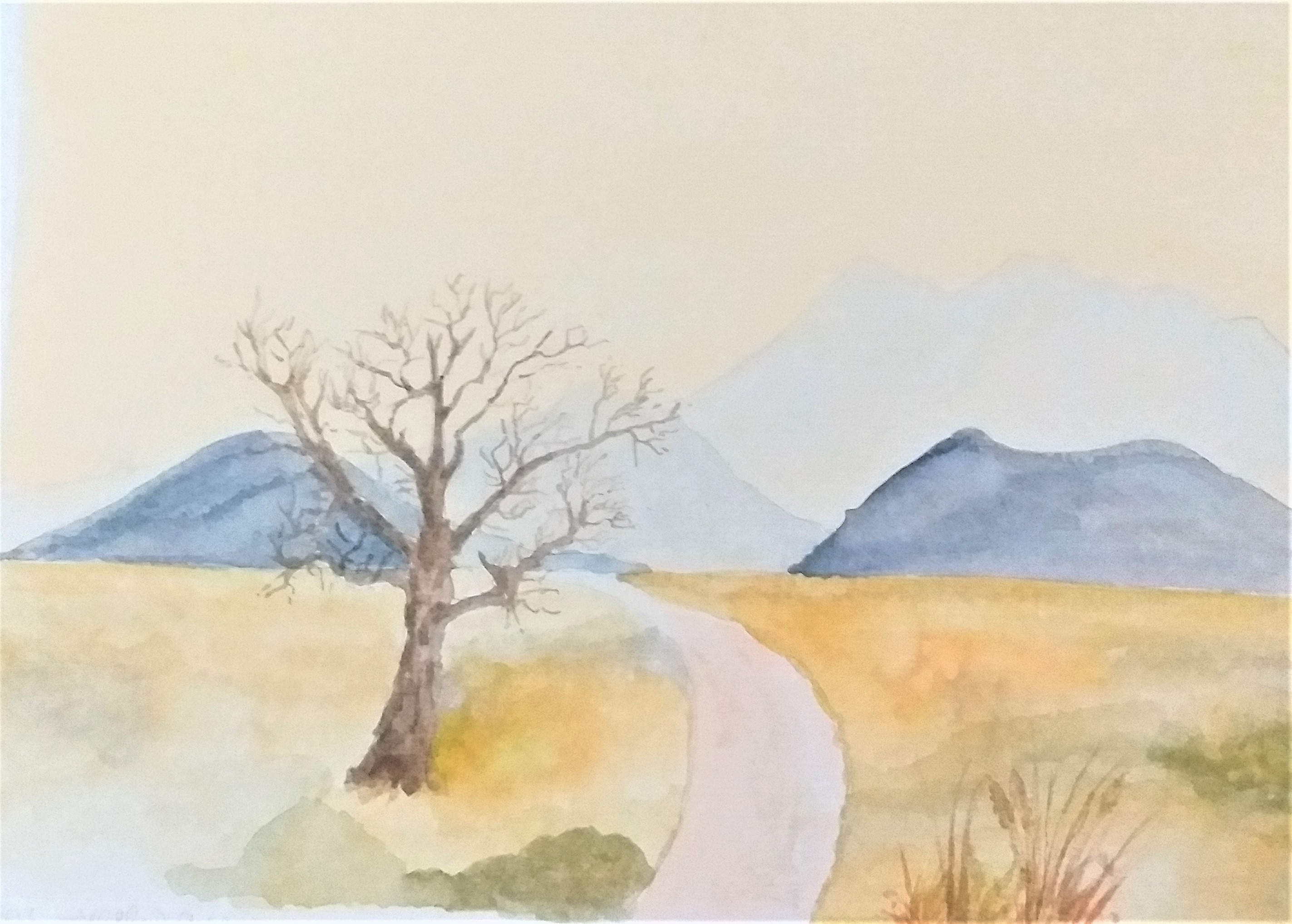 Christine's watercolour created at watercolour course in west midlands