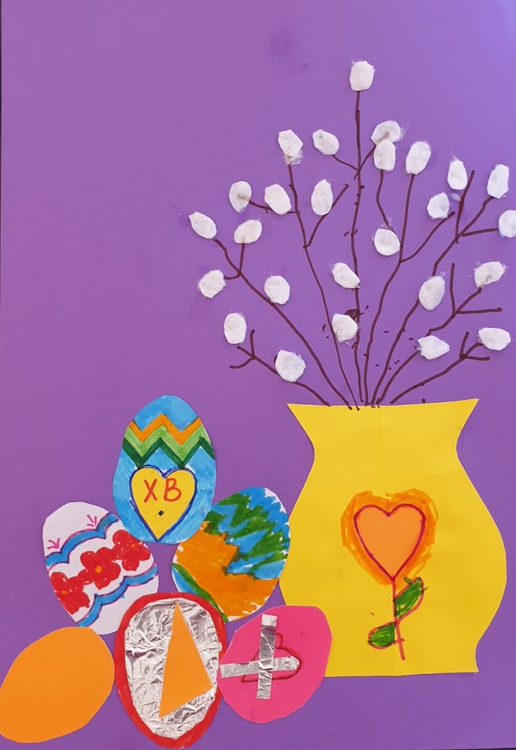Easter collage course for children