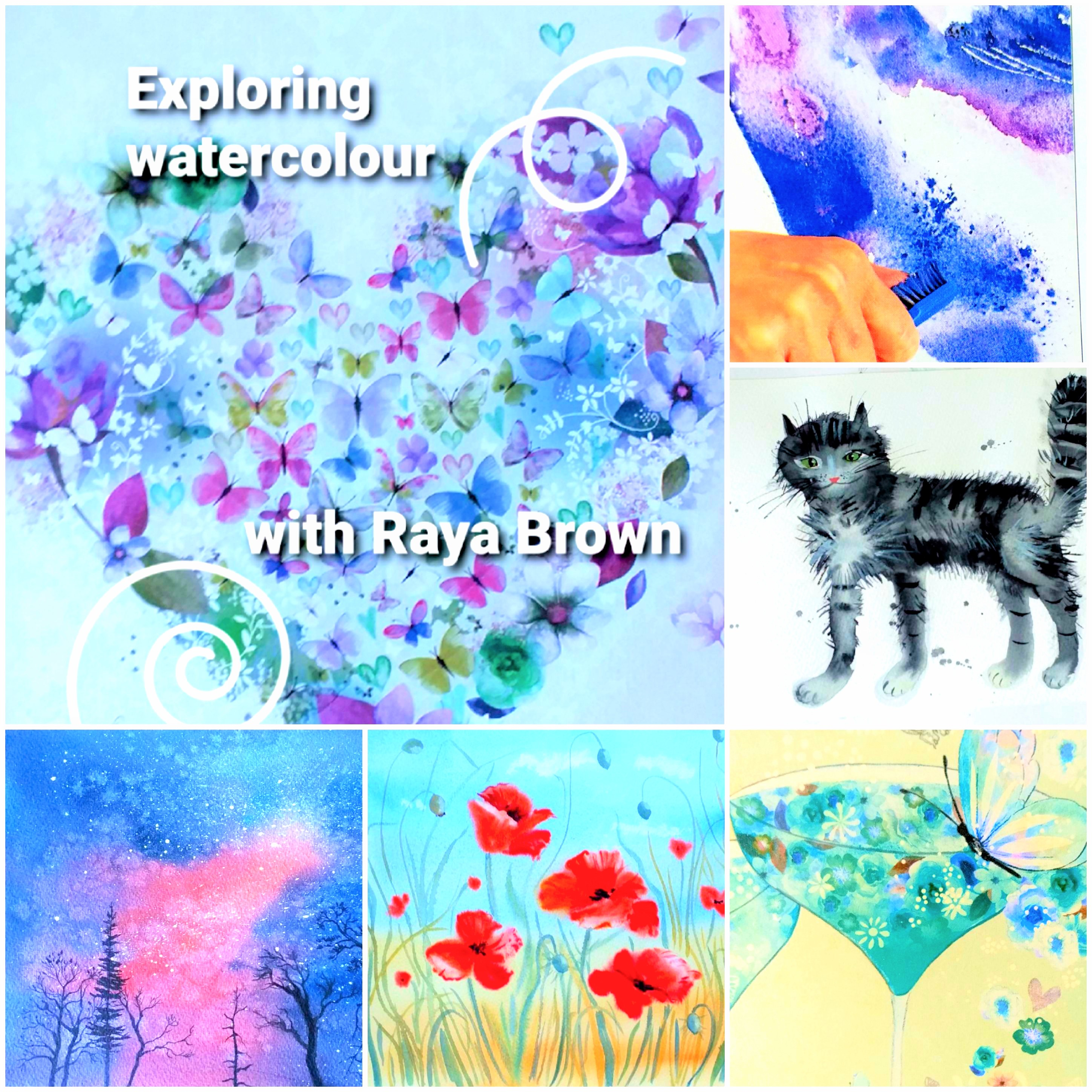 'Exploring watercolour' interactive online course with live tuition with Artist Raya Brown