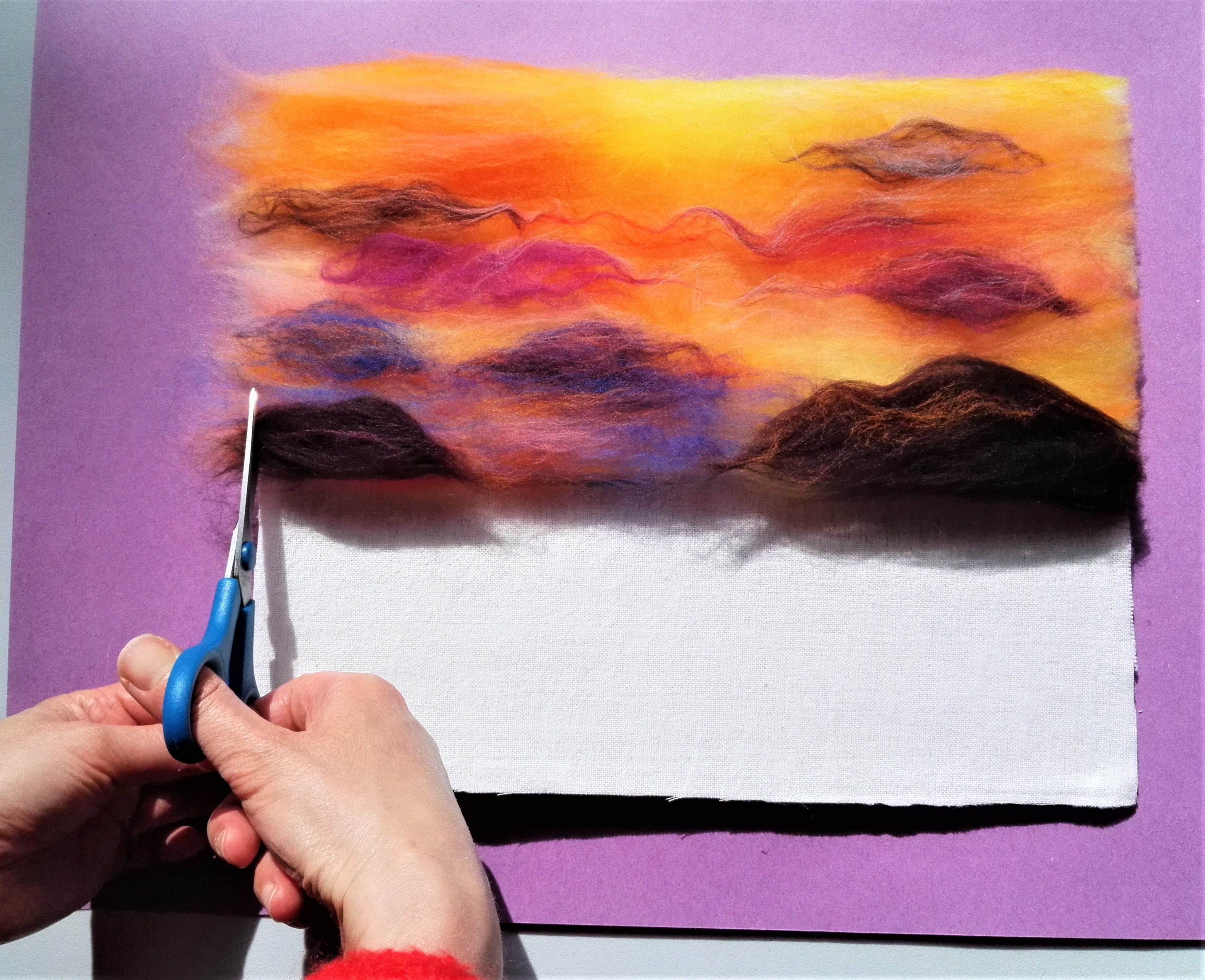 Wool painting kits now available to buy from Magic Wool Studio