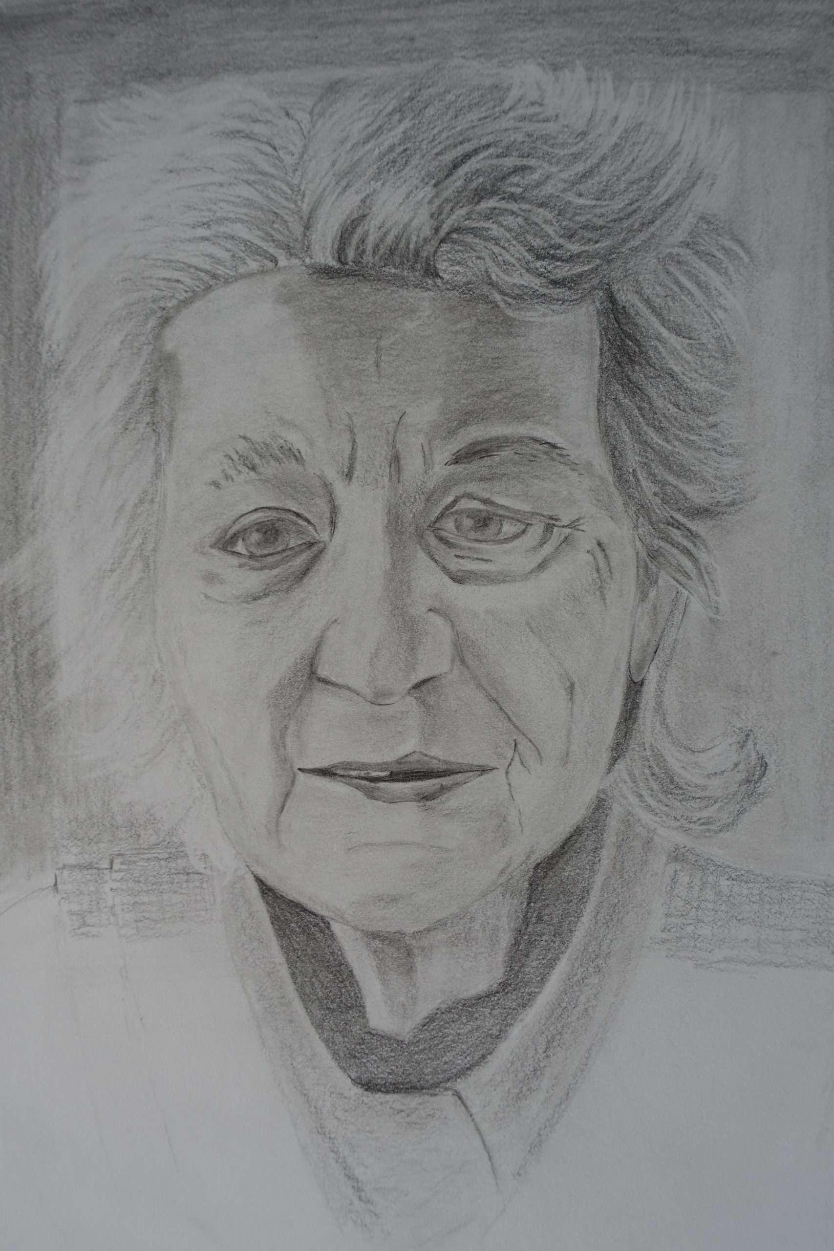 Portrait of an old lady by John