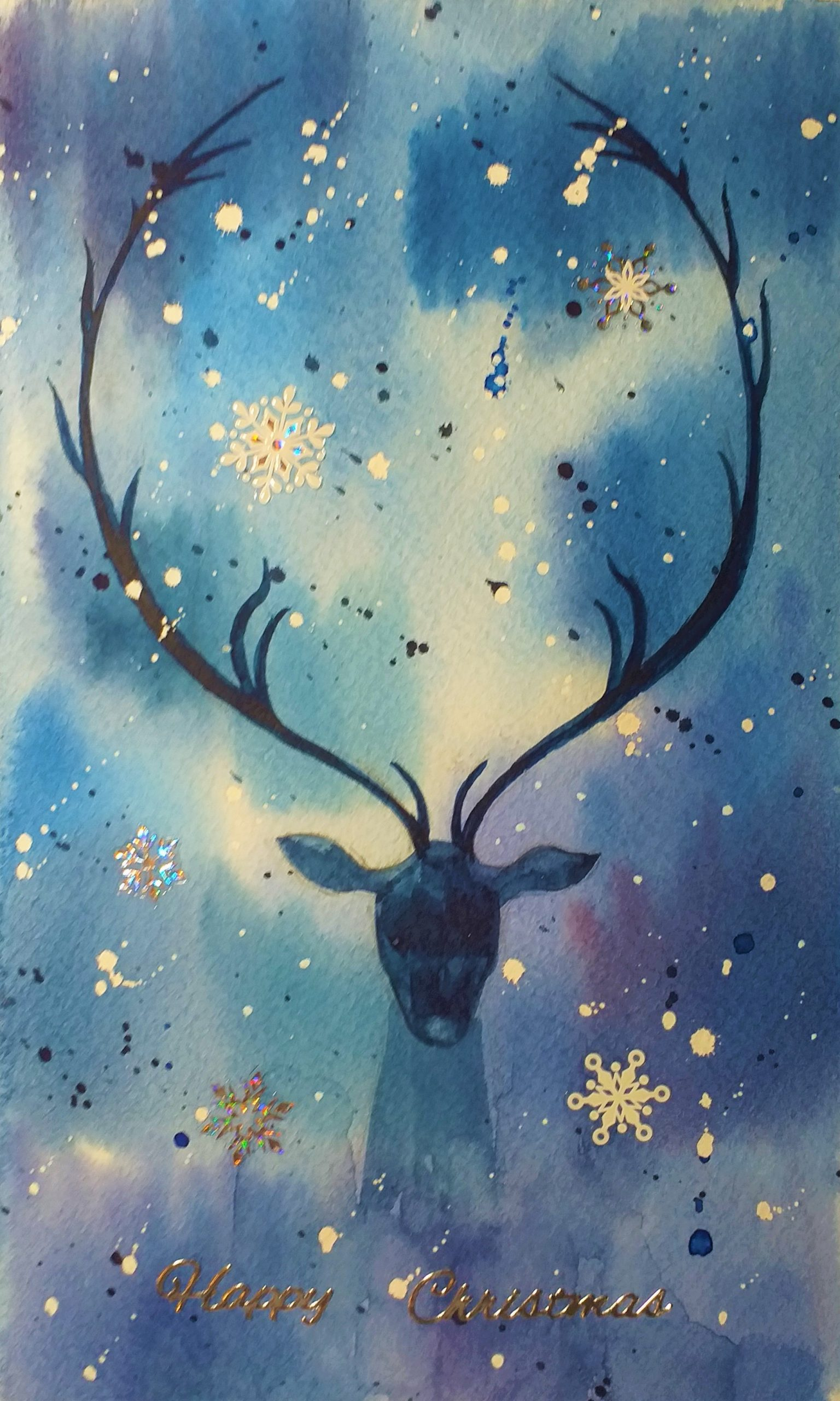 Learn to paint Christmas cards in watercolour