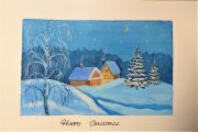 Merry Christmas from Magic Wool Art and Craft Studio in Worcestershire