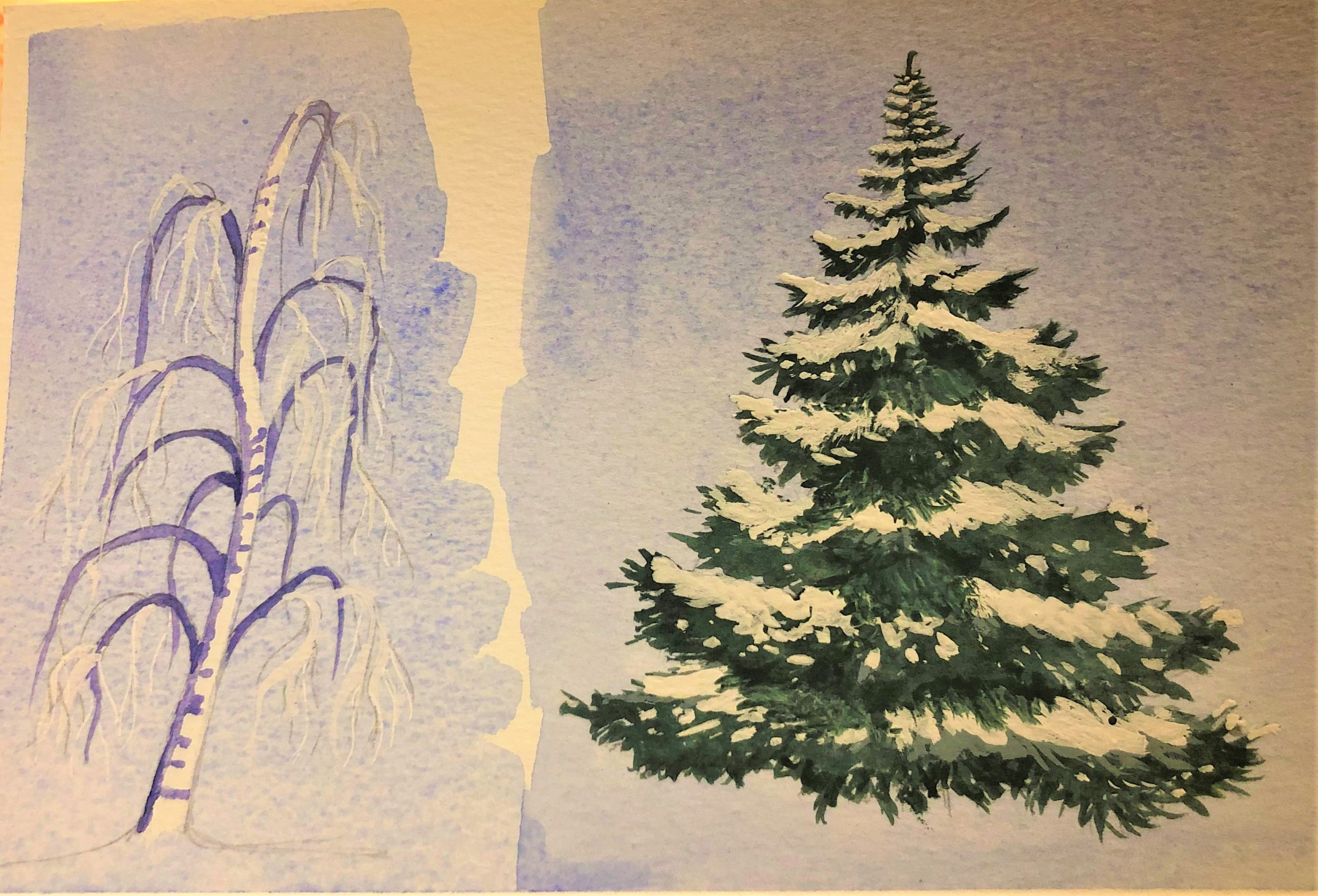 study of winter trees by Zoe