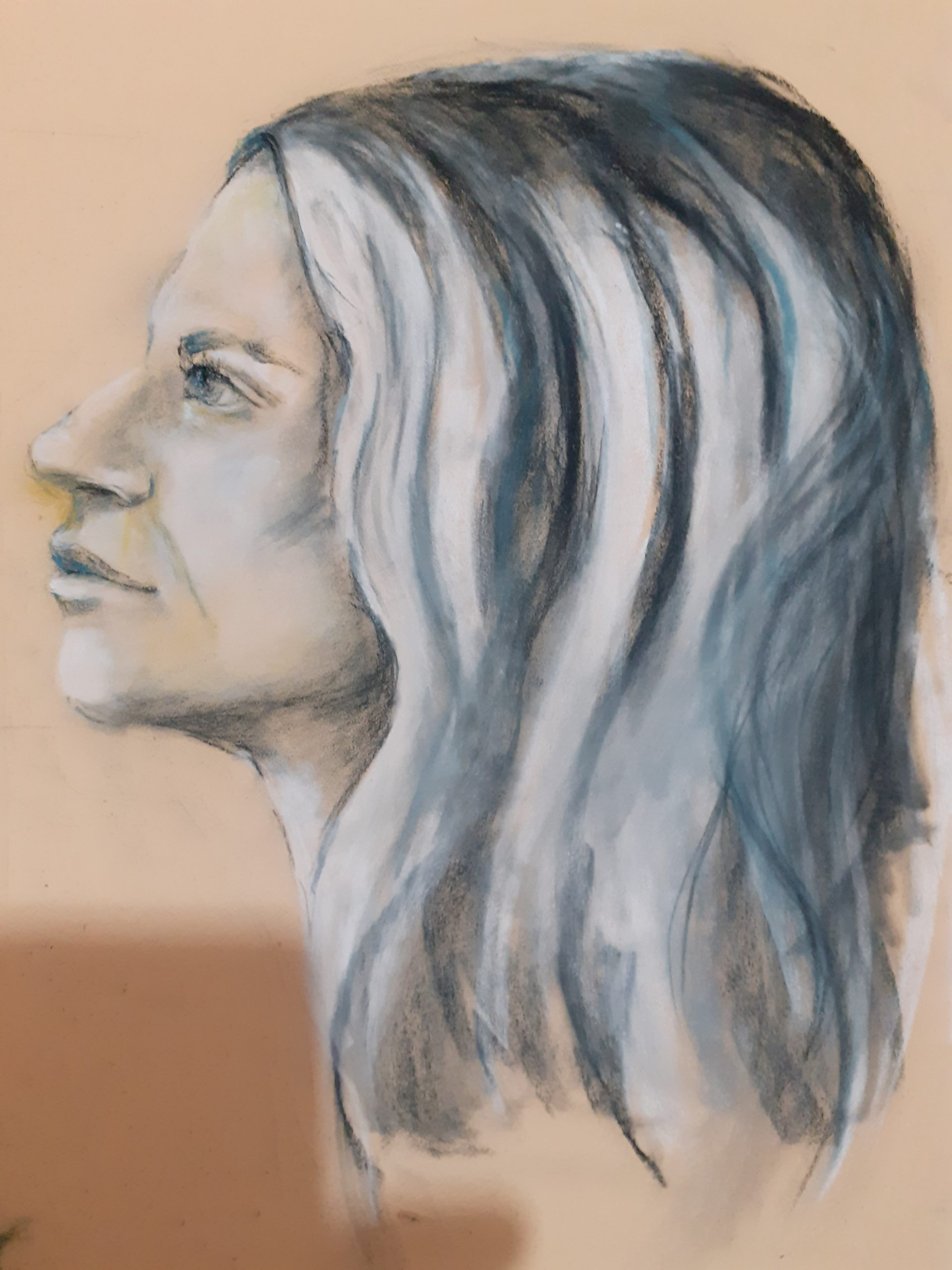 Pastel drawing by Gill
