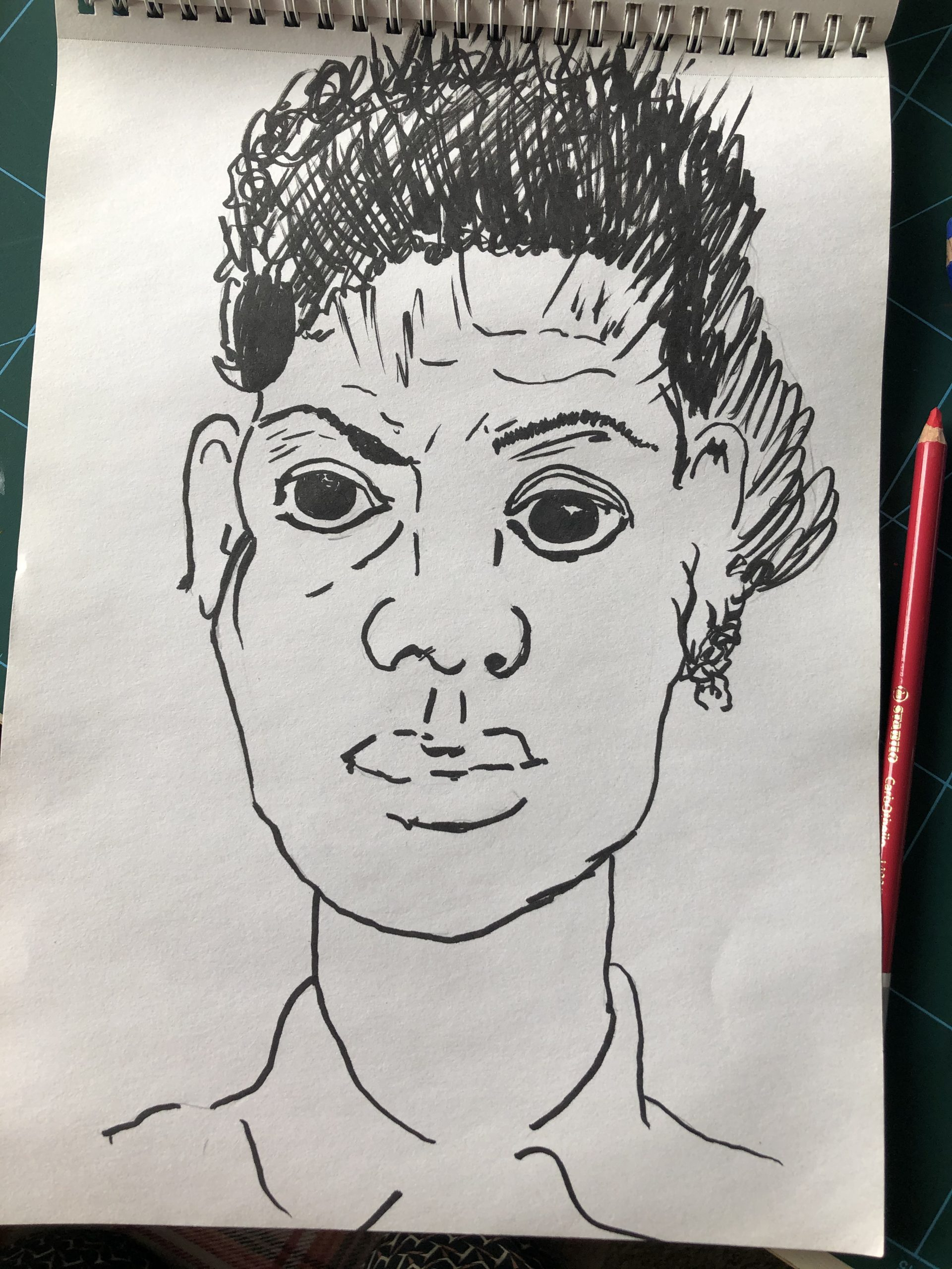Learn to draw portraits with a fineliner at online art course with Raya Brown