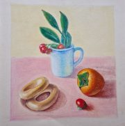 Amazing still lifes created at online Fundamental Art Skills course for beginners  with live tuition