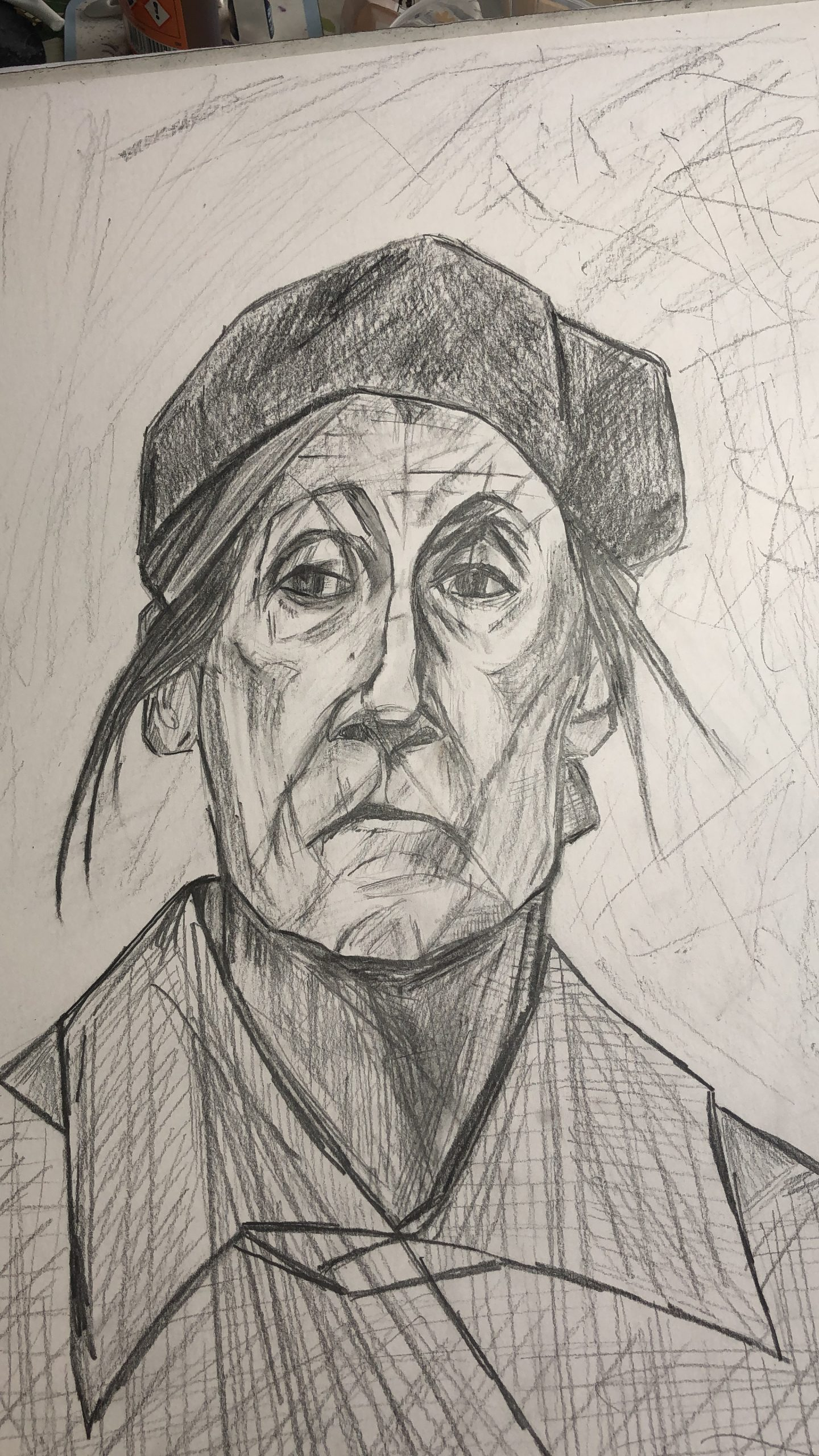 Portrait of an old woman by Mags