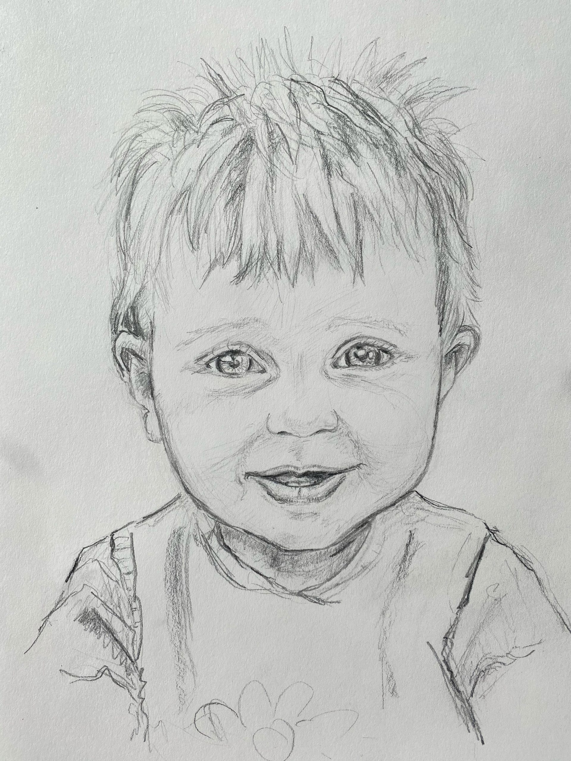 Portrait of a small boy by Emily.