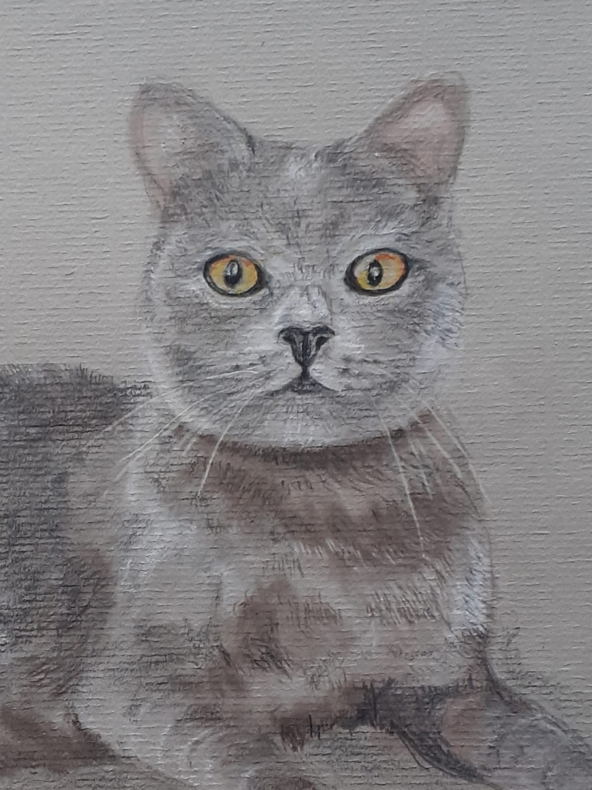Animal painting with pastels by Linda
