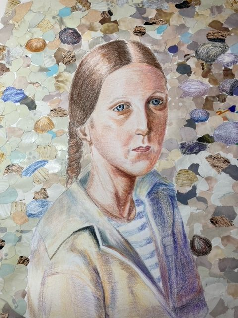 Interactive online Intermediate level Portrait art course with West Midlands Artist Raya Brown has been a great success!