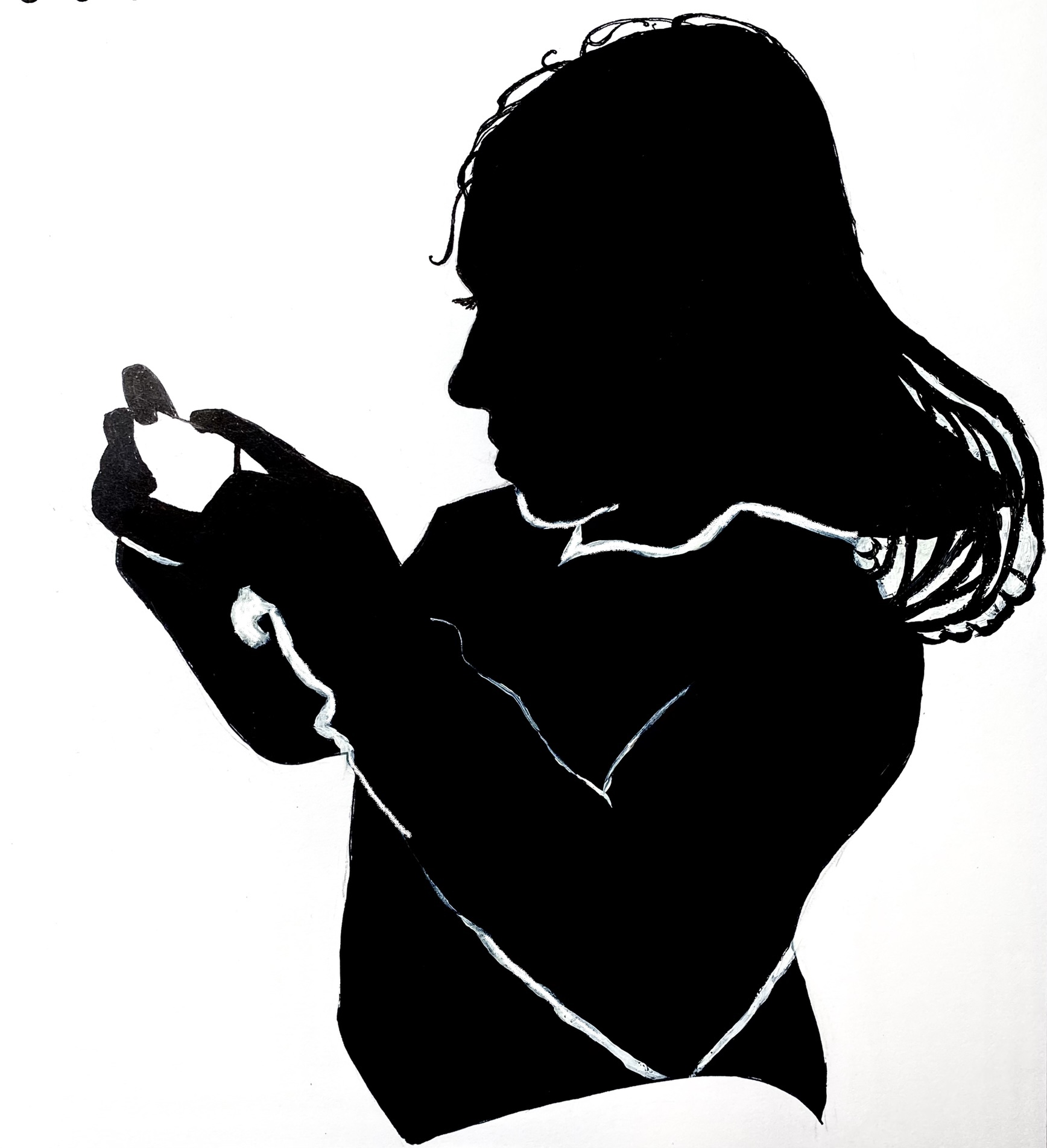 Learn the art of portrait silhouette with Wets Midlands artist and art tutor