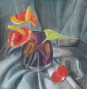 Interactive online 'Introduction to Soft pastels' art course with live tuition by Worcestershire Artist