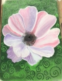 Anemone by Jose created at online soft pastels art classes with Raya Brown