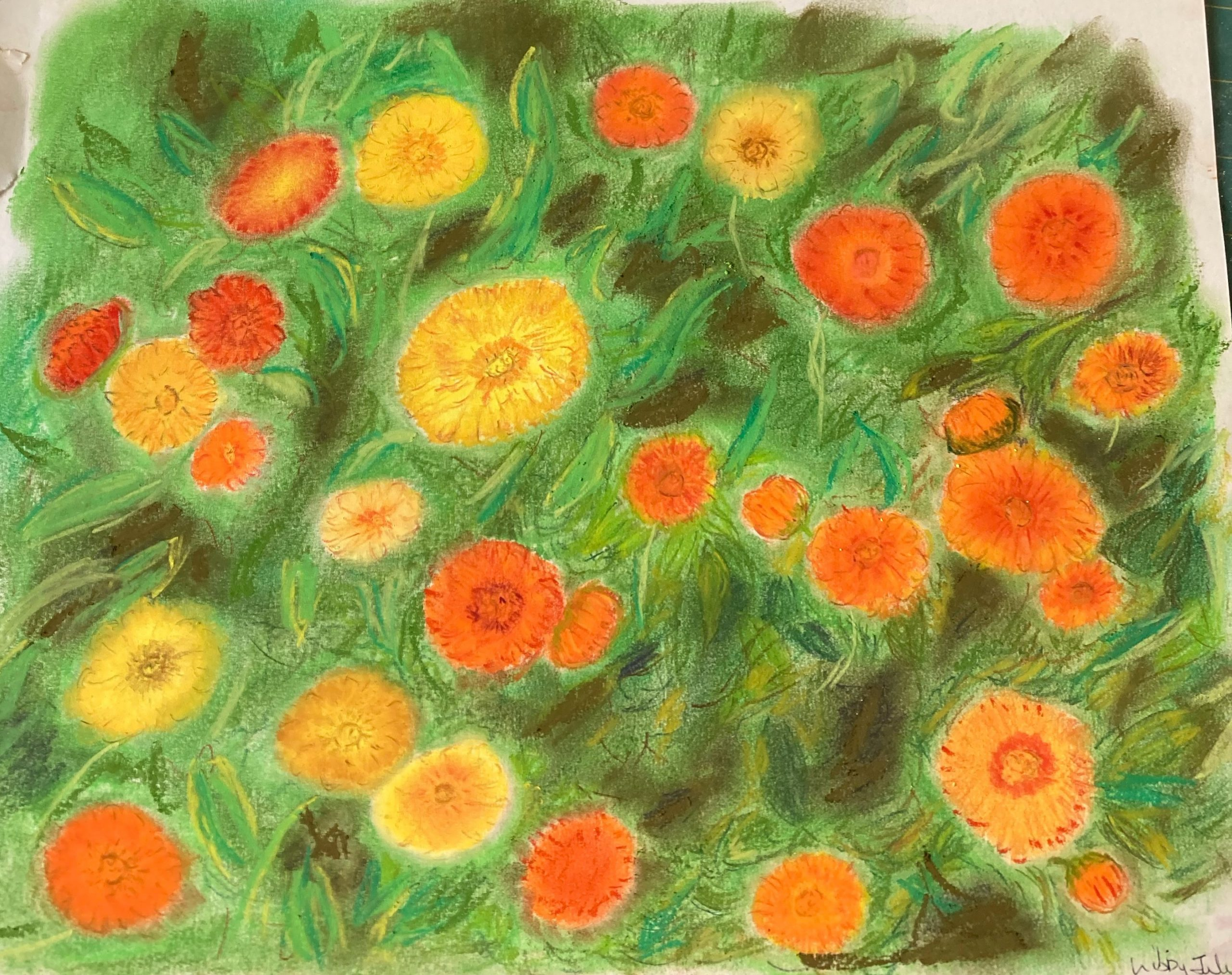Introduction to Soft pastels online zoom art course with West Midlands Artist Raya Brown