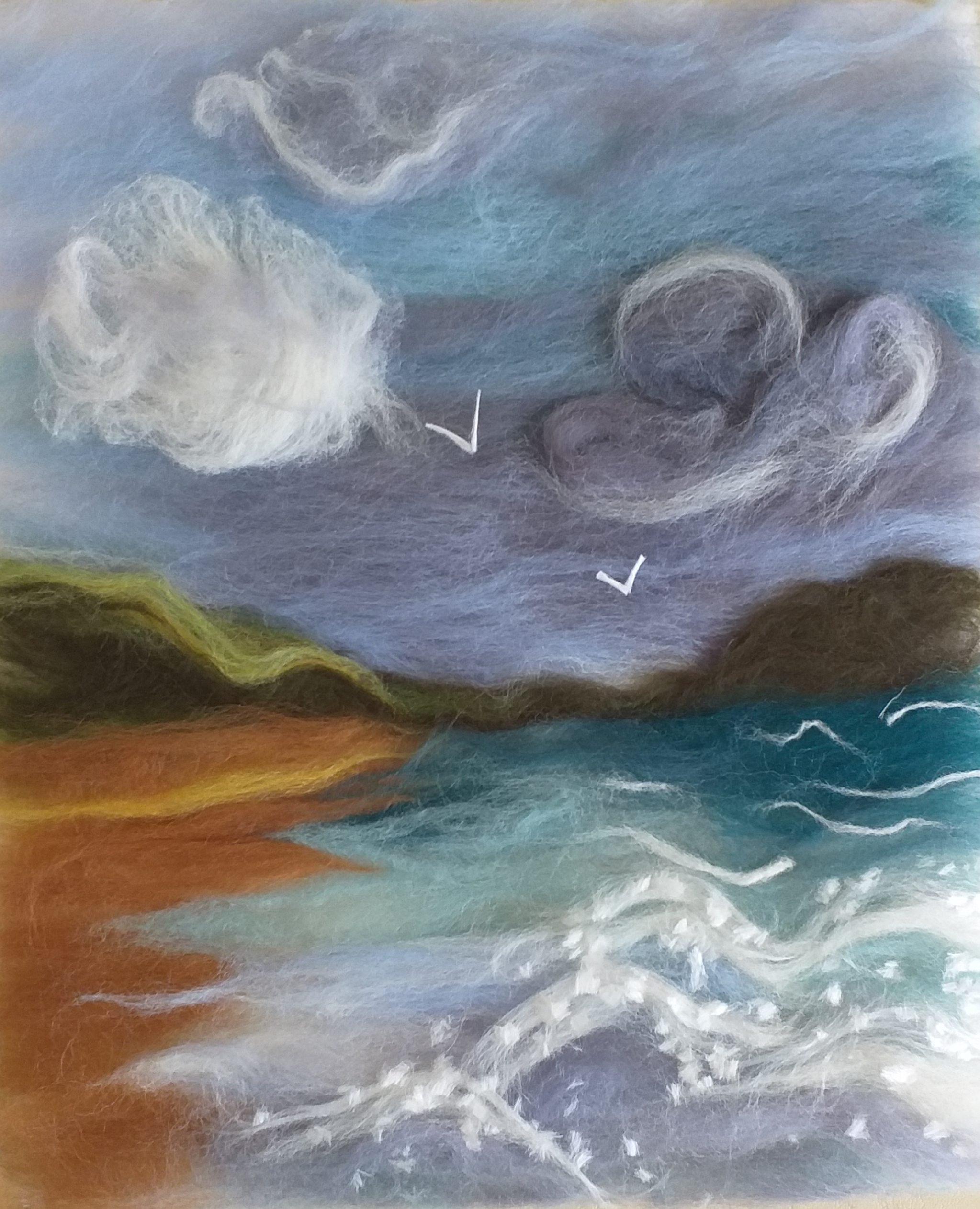 Wool painting created at Magic Wool Art and Craft Studio in Worcestershire