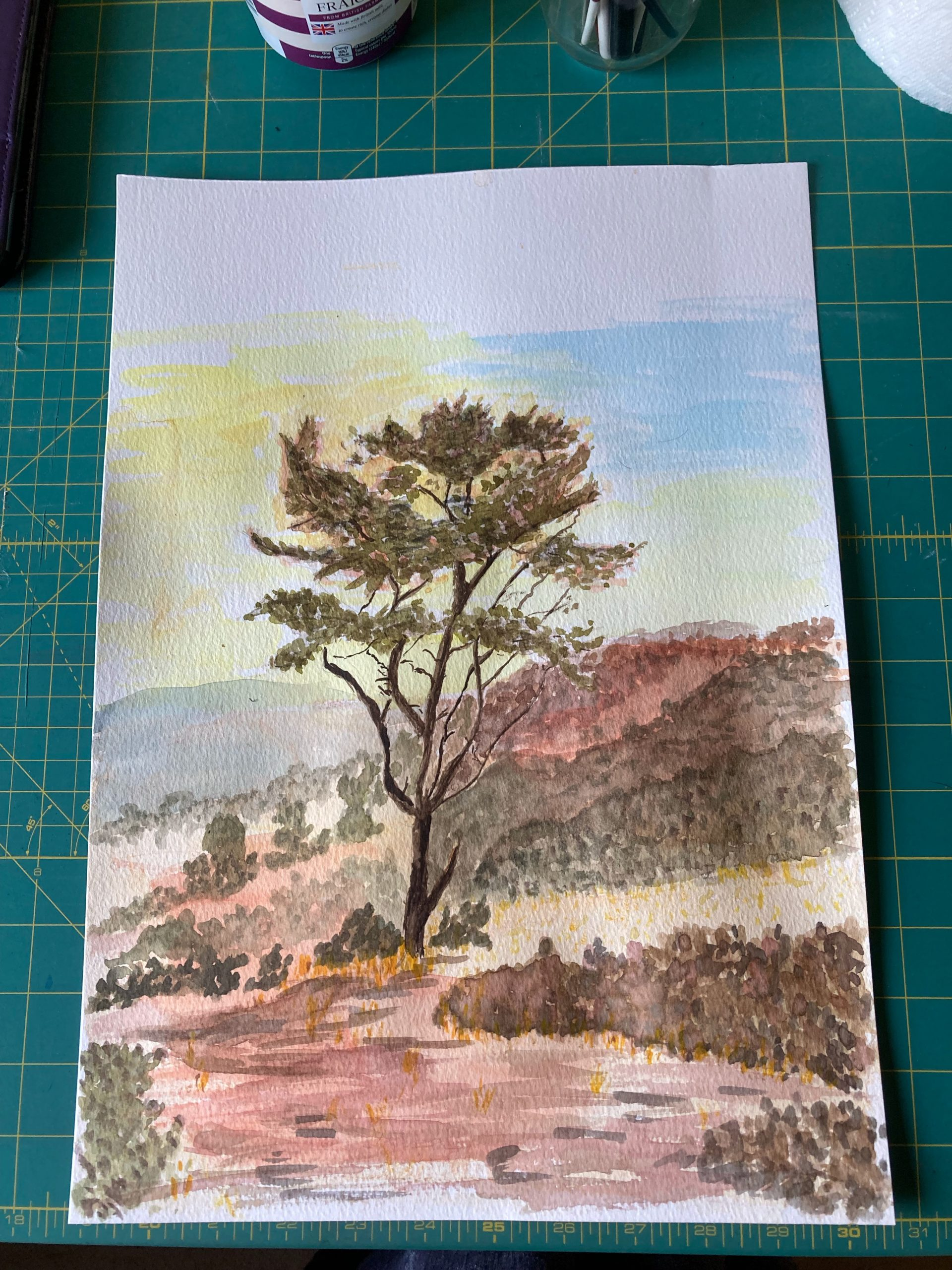 Great start to the online Landscape art course with live tuition with Worcestershire artist Raya Brown